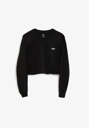WM JUNIOR V LS CROP - Long sleeved top - black
