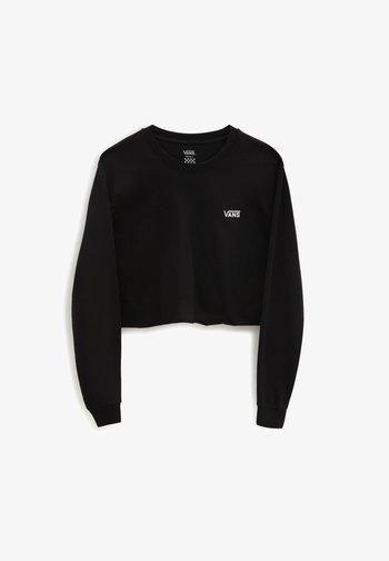 JUNIOR CROP - Long sleeved top - black