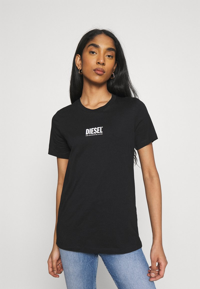 Diesel - T-SILY-SMALLLOGO - Print T-shirt - black
