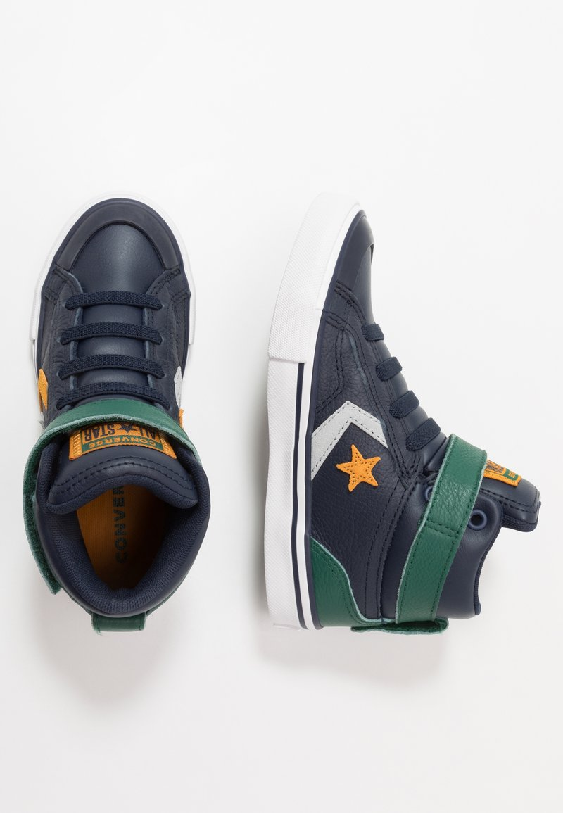Converse - PRO BLAZE STRAP - Zapatillas altas - obsidian/midnight clover/saffron yellow