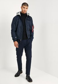 Alpha Industries - HOOD - Bomber Jacket - rep blue - 1