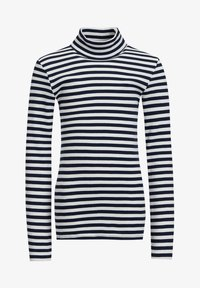 WE Fashion - MEISJES ROLNEK T-SHIRT MET GESTREEPTDESSIN - Longsleeve - dark blue - 2