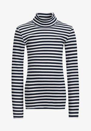 MEISJES ROLNEK T-SHIRT MET GESTREEPTDESSIN - Long sleeved top - dark blue