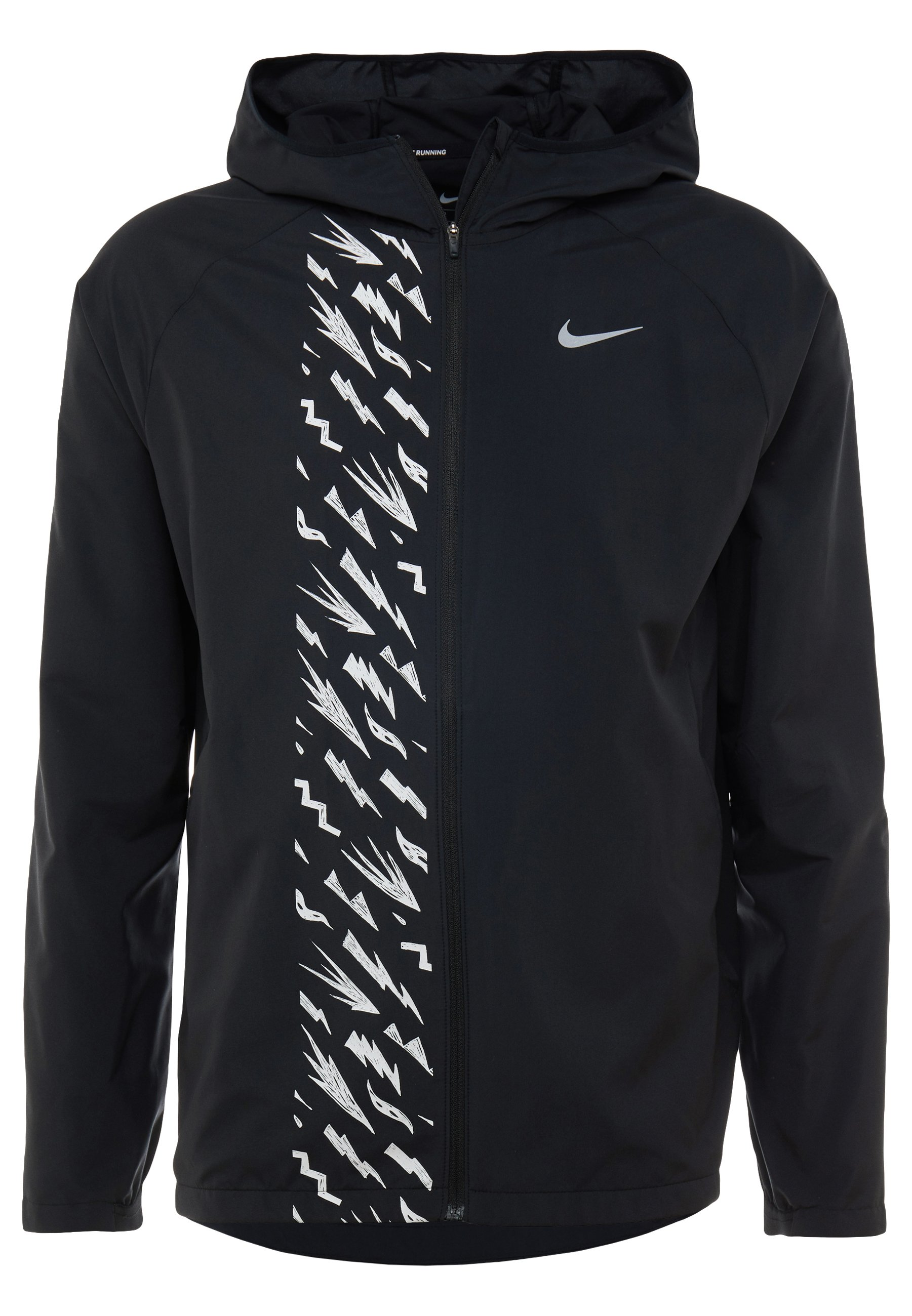 Nike Performance Veste de running - black/reflective silver
