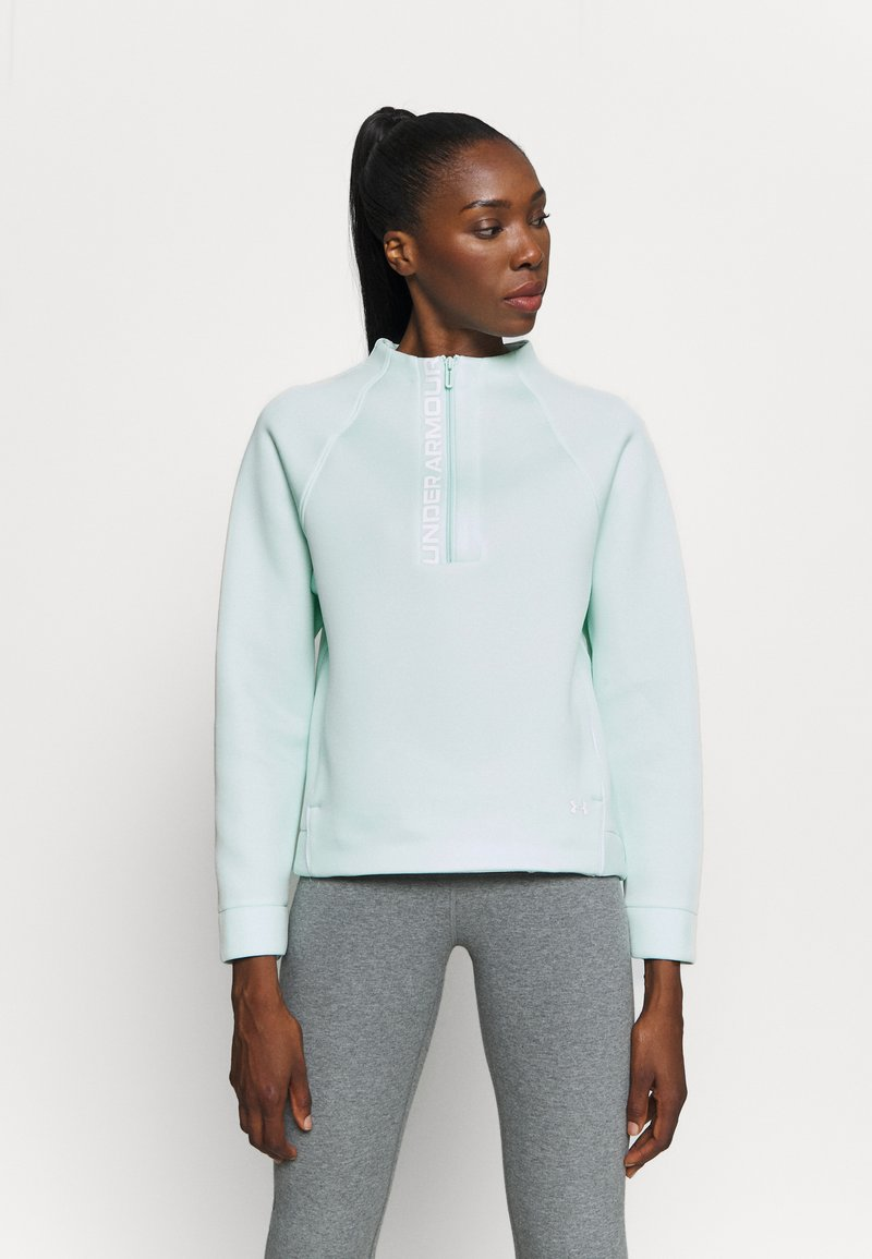 Under Armour - MOVE HALF ZIP - Sweatshirt - seaglass blue