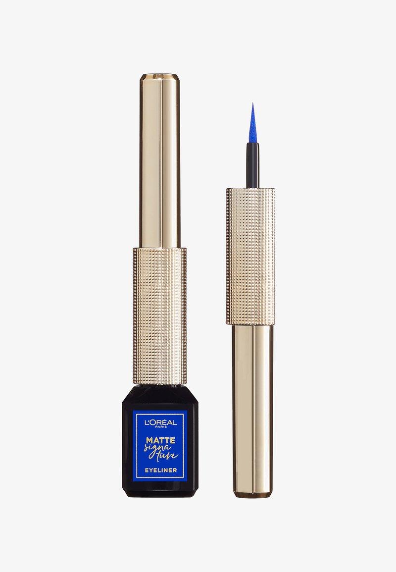 L'Oréal Paris - MATTE SIGNATURE EYELINER - Eyeliner - 02 blue