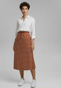 Esprit - A-line skirt - caramel - 1