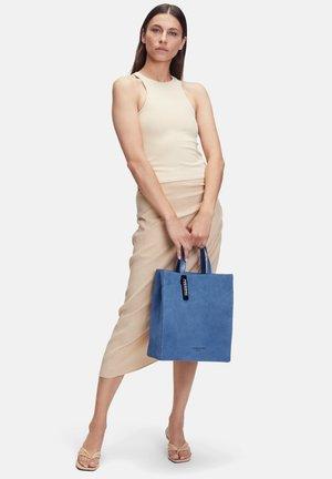 PAPER BAG M - Tote bag - retro denim blue