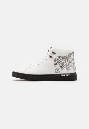 CREEPER - Sneakers high - white/gunmetal