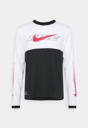 Långärmad tröja - black/white/light fusion red
