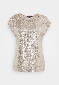Dorothy Perkins - SEQUIN TEE - Print T-shirt - champagne - 4