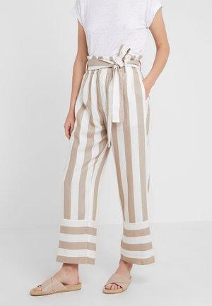 Kalhoty - khaki/ivory
