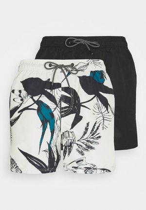 JJIBALI JJSWIM 2 PACK - Swimming shorts - oatmeal/black solid