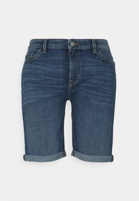 Esprit - BASIC - Denim shorts - blue medium wash - 0