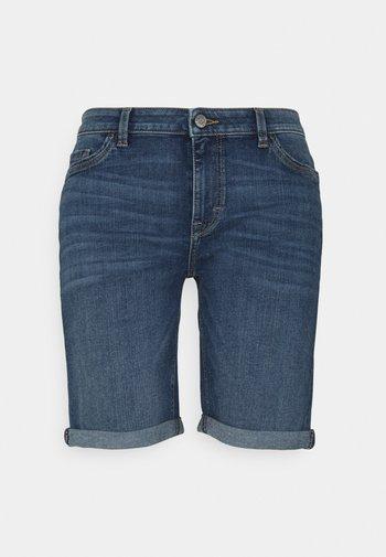 BASIC - Denim shorts - blue medium wash