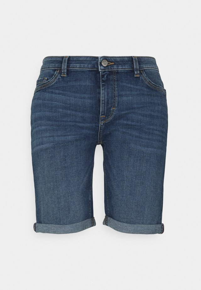 BASIC - Shorts di jeans - blue medium wash