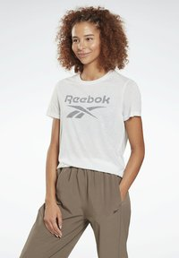 Reebok - WORKOUT READY SPEEDWICK - Print T-shirt - white - 0