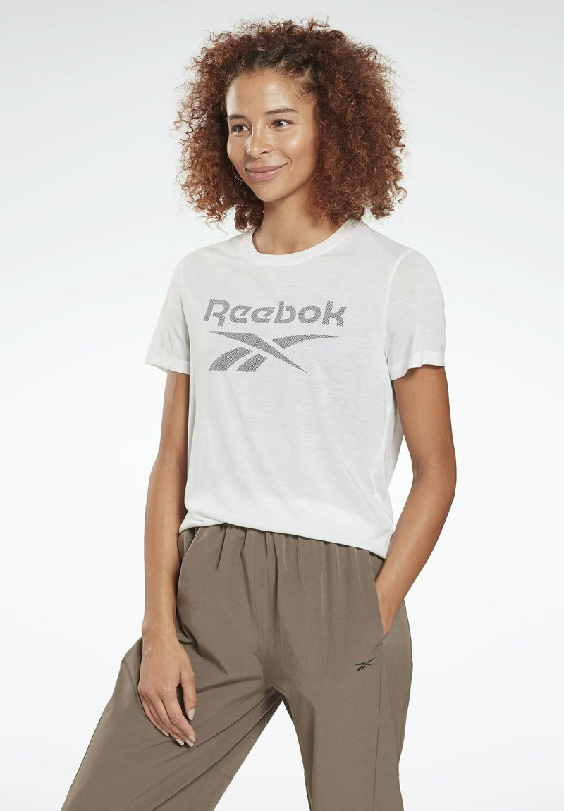 Reebok - WORKOUT READY SPEEDWICK - Print T-shirt - white