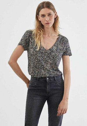 LEOPARD - Print T-shirt - noir