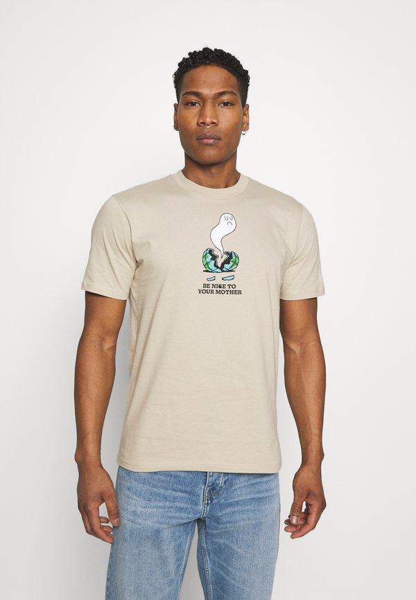 Carhartt WIP NICE TO MOTHER - T-shirt z nadrukiem - wall/mleczny Odzież Męska ARMF
