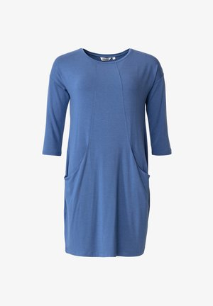 LINDEN - Jersey dress - blue