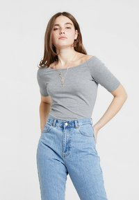 Modström - TANSY  - Basic T-shirt - grey melange - 0