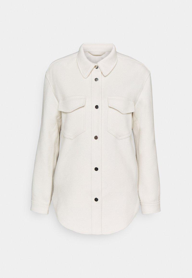 Abercrombie & Fitch - SHACKET - Summer jacket - tan wool