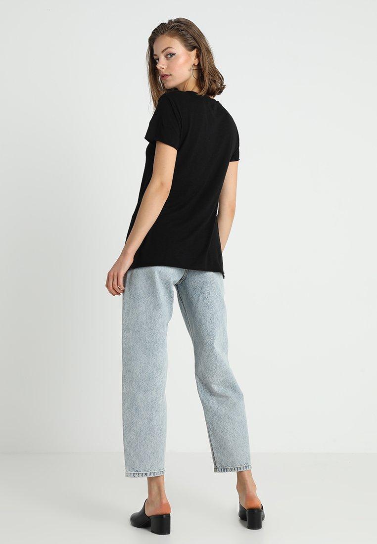 American Vintage JACKSONVILLE V NECK TEE - T-shirt basic - noir - Abbigliamento da donna Per Nizza