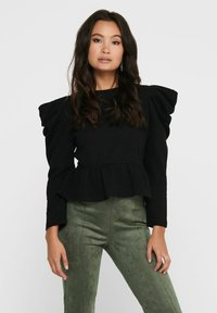 ONLY - Long sleeved top - black - 0