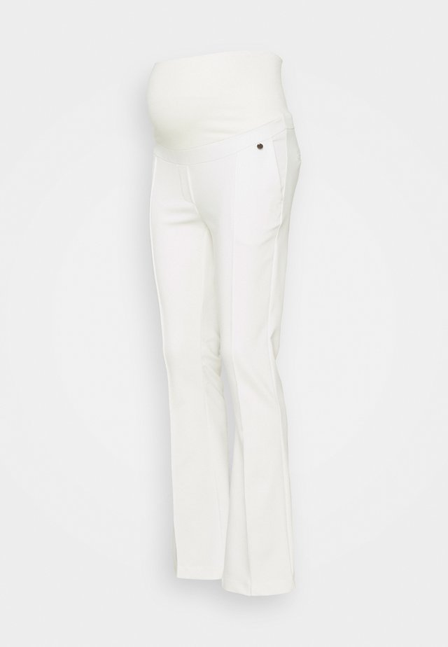 PANTS FLARED - Broek - off-white