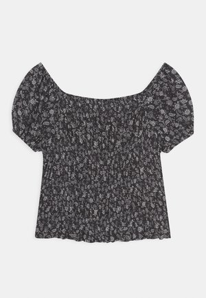 DITSY SHIRRED - Blouse - charcoal