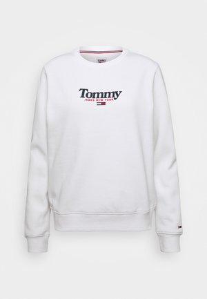 ESSENTIAL LOGO CREW - Sweatshirt - white