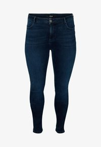 Zizzi - JPOSH, LONG, AMY - Slim fit jeans - black comb - 0