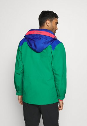 MONASHEE ANORAK - Hardshellová bunda - emerald green/lapis blue