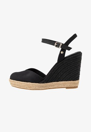 BASIC CLOSED TOE HIGH WEDGE - Sandales à talons hauts - black