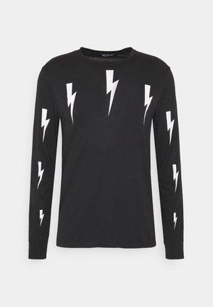 HALO BOLTS PRINT - Pitkähihainen paita - black/white