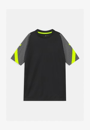 Print T-shirt - smoke grey/black/volt