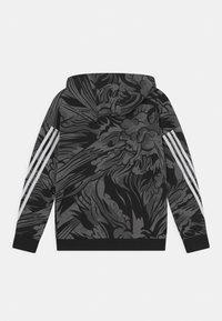 adidas Performance - HOOD UNISEX - Zip-up sweatshirt - black/white - 1