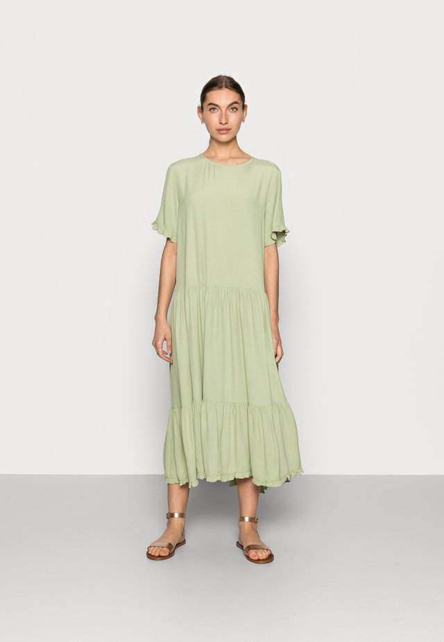 PIA MOROCCO FRILL DRESS - Korte jurk - reseda