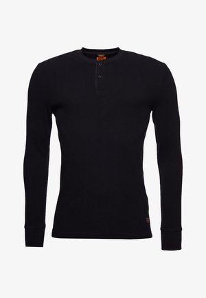MICRO TEXTURE - Long sleeved top - black