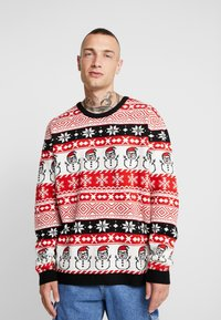 Only & Sons - ONSXMAS MARTIN ALL OVER - Strickpullover - pompeian red - 0