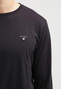 GANT - THE ORIGINAL - Langærmede T-shirts - black - 4