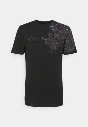 FLORAL TEE - Camiseta estampada - black