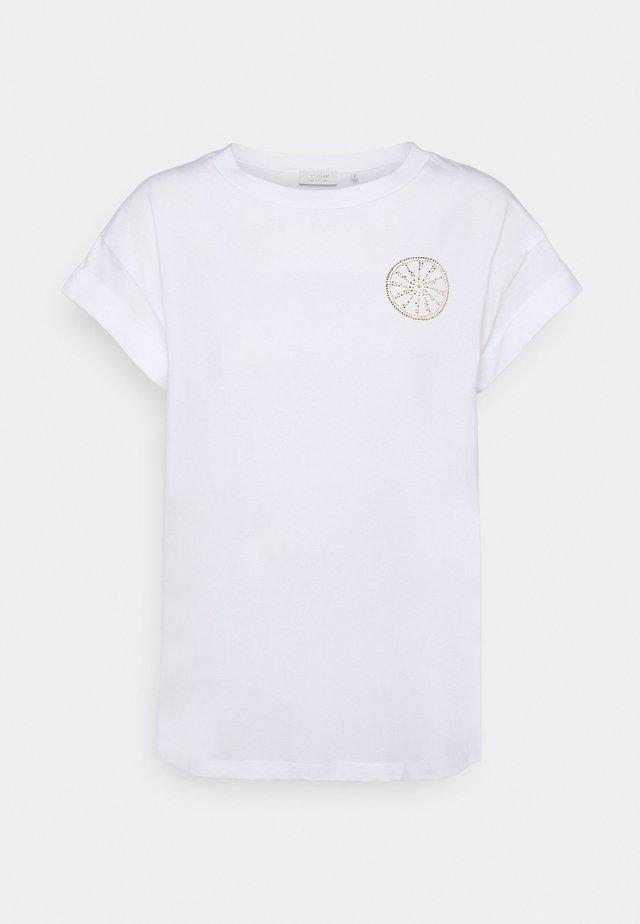 BOYFRIEND SPARKLE  - T-shirt con stampa - white