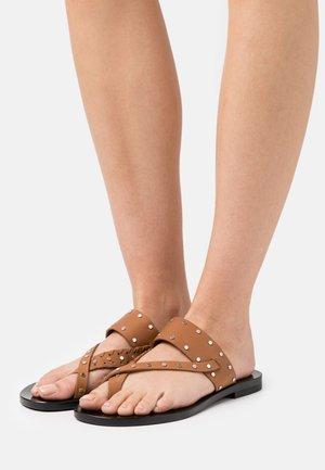 WIKI - T-bar sandals - beige