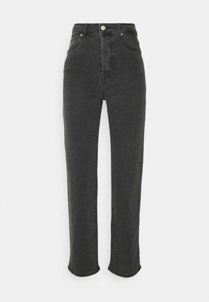 STRAIGHT HIGH WAIST  - Straight leg jeans - dark grey