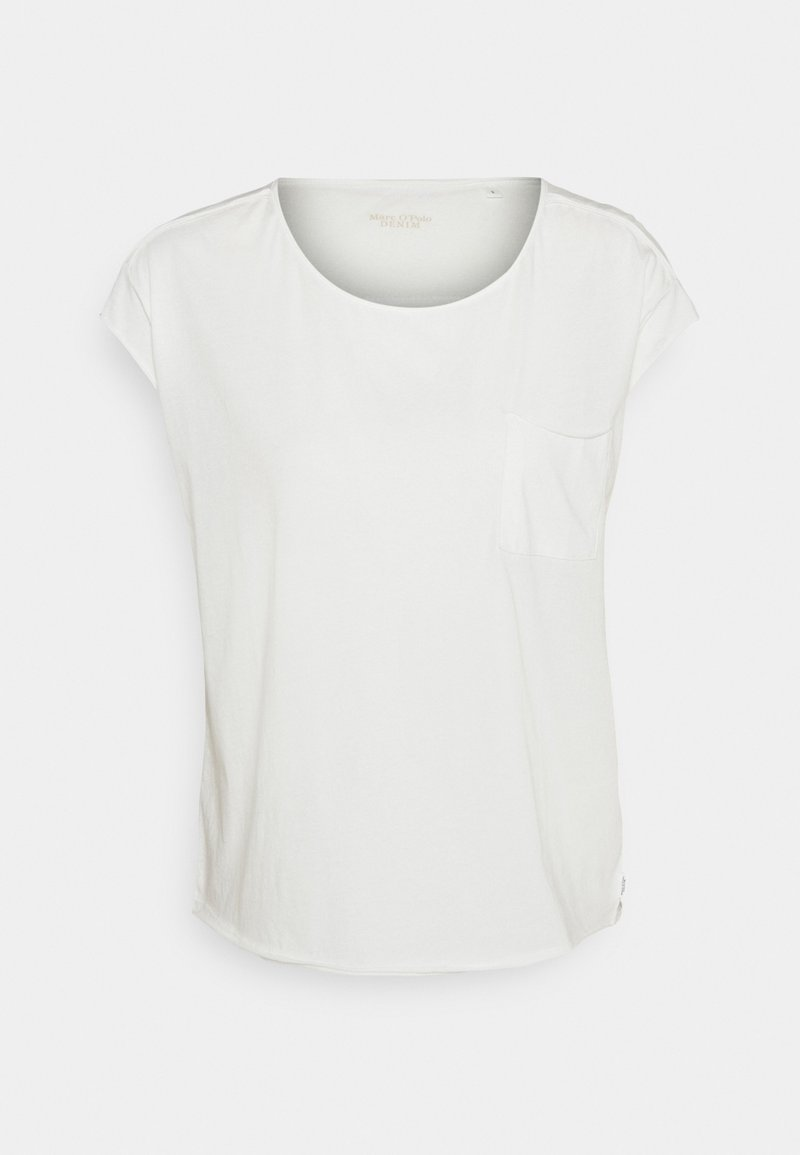 Marc O'Polo DENIM - SHORT SLEEVE CHEST POCKET - Basic T-shirt - scandinavian white