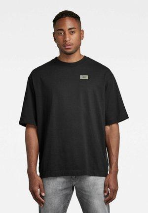 SIDE TAPE LOOSE R T - T-shirt basique - dk black