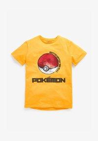 Next - Print T-shirt - yellow - 0