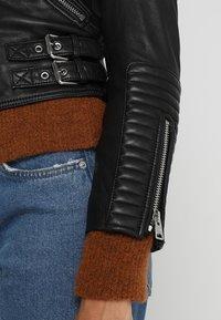 AllSaints - ESTELLA BIKER - Leather jacket - black - 5